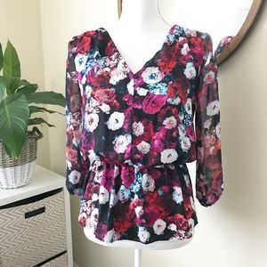Multicolor Garden Rose Blouse